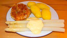 Spargel mit Veggiburger und Kartoffeln Dairy, Cheese, Food, Asparagus, Potato, Food And Drinks, Cooking, Essen, Meals