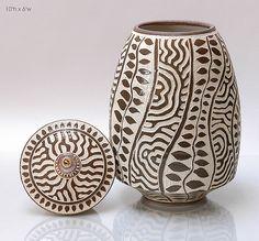 Sgrafitto 13: Ron Mello: Ceramic Vessel - Artful Home