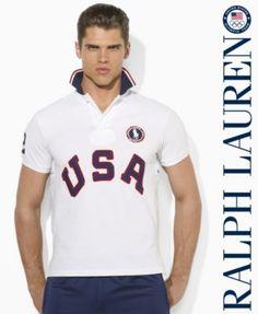 Polo Ralph Lauren Shirt, Polo Ralph Lauren Team USA Olympic Mesh Accented  Polo