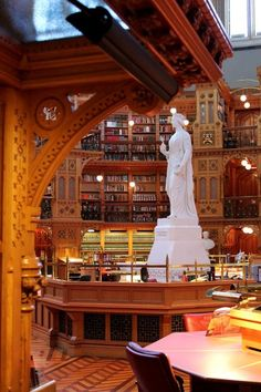 The Library of Parliament in Canada. via Book Riot
