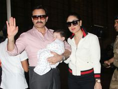 Kareena Kapoor and Saif Ali Khan with Taimur