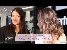 COMO ILUMINAR MORENAS   MECHAS DE INVERNO - YouTube