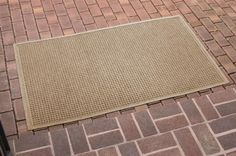 36 in. L x 60 in. W Medium Brown Waterguard Squares Mat (Evergreen) by Bungalow. $68.12. 36 in. L x 60 in. W x 0.5 in. H. Crisp squares design traps dirt, resists fading, rot and mildew. Indoor and outdoor use. Color: Evergreen. Crisp squares design traps dirt, resists fading, rot and mildew . Indoor and outdoor use . 36 in. L x 60 in. W x 0.5 in. H