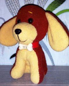 выкройка собаки игрушки из ткани