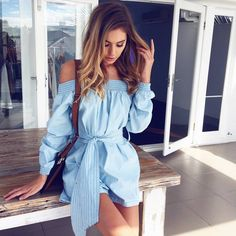 #summer #musthave #outfits | Chambray Playsuit @mura_boutique