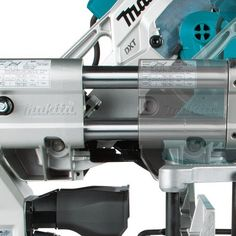 """coptoolNew @makitatools 10"""" sliding miter saw LS1019L ($509) features side rails for use against the wall and dual dust ports. Could this be the perfect shop saw? See full review & video www.coptool.com #makita #mitersaw #wood #woodworking #carpentry #kapex #shoptools #dustcollection #maker @ohiopowertool"""