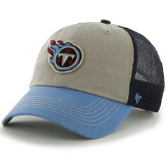 Tennessee Titans 47 Brand Beige Navy Mesh McNally Clean Up Snapback Hat Cap