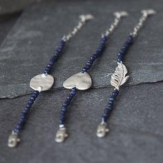 The Little Black Dress Boutique Limited. Tutti & Co Heart Blue Stone Bracelet - BR156s
