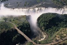 The Victoria Falls, Zimbabwe.  Travel there with www.nomadtours.co.za