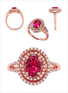 rublite rose gold ring | engagement ring ideas | pretty wedding ring | #weddingchicks