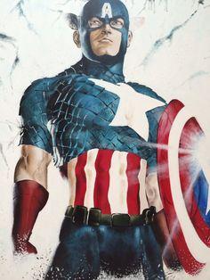 Marvel's Captain America 1.20m x 1.m  Acrylic