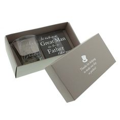 Amore Father Of The Bride Whisky Glass and Coaster Gift Set