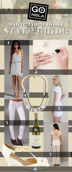 Style guide for Whitney White Linen Night on Julia Street in downtown New Orleans! This fashionable event features art gallery openings. It originated here in NOLA and has now spread to other cities including Houston, Texas.