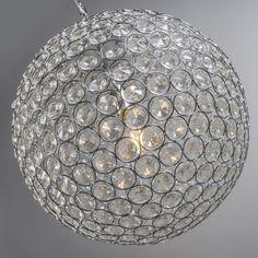 Pendant Lamp Marbella 45 Glass Crystal Nickel