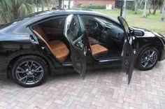 2013 nissan maxima peanut butter interior black exterior | 2012 Nissan Maxima S Sedan Limited Edition custom Peanut Butter ...