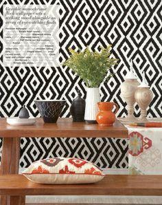 Bold pattern. Styling by Emma Clayton | Photography by Mark Scott