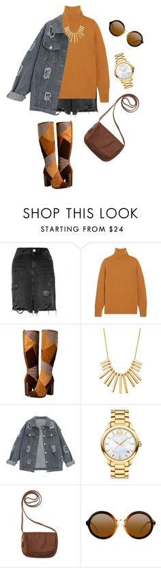 """""""Fall fashion"""" by stylebyami ❤ liked on Polyvore featuring River Island, Chloé, Frye, BERRICLE, Movado and Aéropostale"""