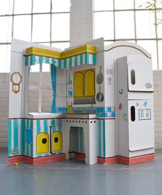 Take a look at this Cardboard Pop & Play Kitchen on zulily today!