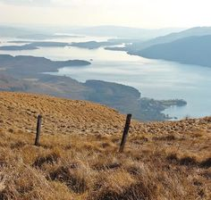 """The view from Ben Lomond looking to Loch Lomond (""""Loch Leven"""" in the century) and beyond it to the Vale of Leven Ben Lomond, Loch Lomond, 11th Century, Deep Water, Mountains, Gallery, Places, Pictures, Travel"""