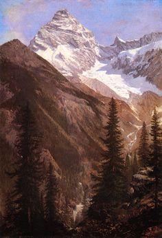 Learn more about Canadian Rockies Asulkan Glacier Albert Bierstadt - oil artwork, painted by one of the most celebrated masters in the history of art. Albert Bierstadt Paintings, Hudson River School, Canadian Rockies, Canadian Art, Oil Painting Reproductions, Dream Art, Vintage Artwork, Paintings For Sale, Oil Paintings