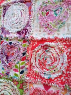 Rag Quilt PATTERN  Summer in the Park  42x49 by itssewsally, $7.00
