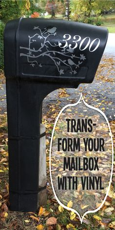 Plastic mailbox makeover with vinyl decal @c4rlylynn