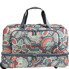 c2fb34ad482 Vera Bradley Luggage Women s Lighten Up Wheeled Carry-on Nomadic Floral  Carry On Vera Bradley