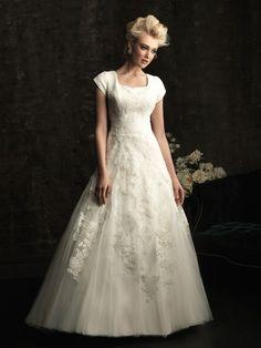 Allure Bridals Eliza M482 Modest Lace Wedding Dres