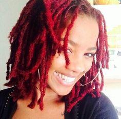 Red locs ★ natural hair ★ natural hairstyles