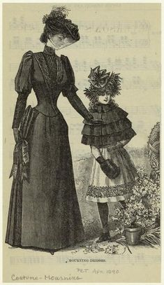 Mourning dresses, 1890