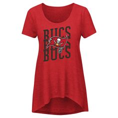 Tampa Bay Buccaneers Women's Game Time Glitz T-Shirt - Team Color Xxl, Multicolored