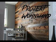 DIY Design Wohnwand aus Europaletten pallet wood wall Palettenholz #palettenholz #palletwood #woodwall #wohnwand #holzwand #europalette #europaletten