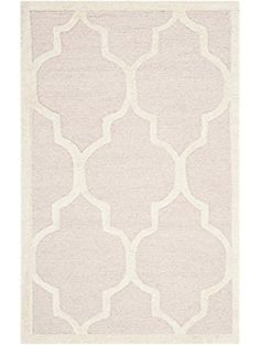 Safavieh Cambridge Collection Handmade Moroccan Geometric Light Pink and Ivory Premium Wool Area Rug x ❤ Safavieh Pink Gray Bedroom, Wool Area Rugs, Home Gifts, Pink Grey, Cambridge, Moroccan, Ivory, Handmade, Collection