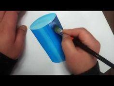 원기둥그리기 원기둥 채색how to draw a cylinder - YouTube