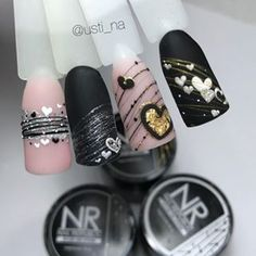 Great Ideas For Holiday Nails – Page 6960739900 – NaiLovely Beautiful Nail Art, Gorgeous Nails, Amazing Nails, Gel Nail Art, Nail Manicure, Nail Art Coeur, Valentine's Day Nail Designs, Pedicure Designs, Gel Nails French