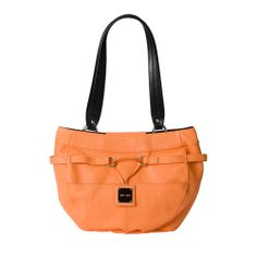 Don't you love the first sweet bite of a just-picked cantaloupe? Orange in all its shades is the perfect accent color to brighten your wardrobe and makes you feel refreshed all day long. The Colton for Demi Miche bags features pebble-grain textured faux leather with illusion band detailing and chic drop plate logo. Silver hardware; rectangular bottom; two flat front pockets. *Miche Canada* #miche #michecanada #michefashion #fashion #style #purses #handbags #accessories