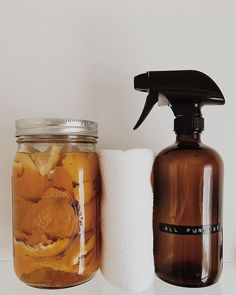 Infuse citrus peels in white vinegar for 2 weeks, strain peels and use in all purpose cleaner