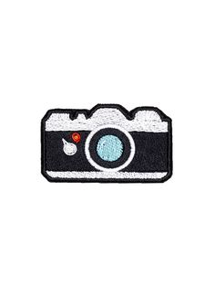 Camera Patch Iron On Applique Embroidered Patches Machine Embroidery Design Emoji Denim Jacket Embroidery, Embroidery Fabric, Embroidery Patches, Machine Embroidery, Cute Patches, Pin And Patches, Iron On Patches, Jacket Patches, Diy Patches