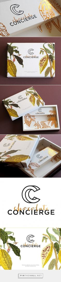 Chocolate Concierge by Anagraphic curated by Packaging Diva PD.  Lovely botanical illustrations on this chocolate packaging.
