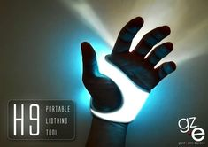 Innovative Luminous Gloves - The H9 Portable Lighting Tool Can Be Worn Conveniently on the Palm (GALLERY)