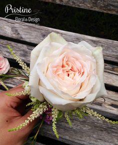 Nice Garden Rose Boutonniere Blush | Boquets | Pinterest | Boutonnieres, Garden  Roses And Groomsmen Boutonniere