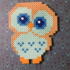 Owl perler beads by doucetcreations