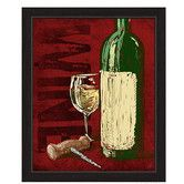 Found it at Wayfair - Artistic Wine Bottle And Corkscrew Framed Painting Print