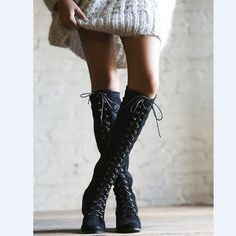 (108.98$)  Buy here - http://ai93p.worlditems.win/all/product.php?id=32794114340 - New Winter Spring Women Dress Boots Suede Long Botas Mujer Gladiator Shoes Woman Shoes Cross-tied Womens Knee High Boots Bottes