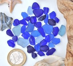 Sea Glass Blue Mix Authentic Very Rare by BeachBountySeaGlass