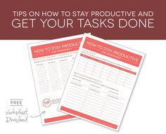 ORGANIZE YOUR LISTS & GOALS: Tips on how to stay productive + FREE worksheet to help organize your goals.