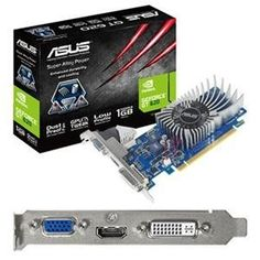 Asus US, GeForce GT620 1GB PCIe (Catalog Category: Video Cards / Video Cards- PCI-e nVIDIA) by Asus. $86.06. Asus US, GeForce GT620 1GB PCIe (Catalog Category: Video Cards / Video Cards- PCI-e nVIDIA) ASUS GT620-1GD3-L is equipped with Super Alloy Power which reaches 15% performance increase 2.5 times longer product lifespan and 35C cooler operation. Dust-Proof Fan design additionally dissipates heat efficiently while expending lifespan by 25%. Moreover ASUS GT620-1...