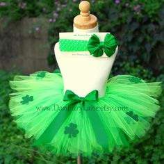 Green Toddler Tutu only, St Patricks Day Irish costume for dress up or photo prop, choose your size 2t, 3t, or 4t -SHAMROCK GIRL. $29.95, via Etsy.