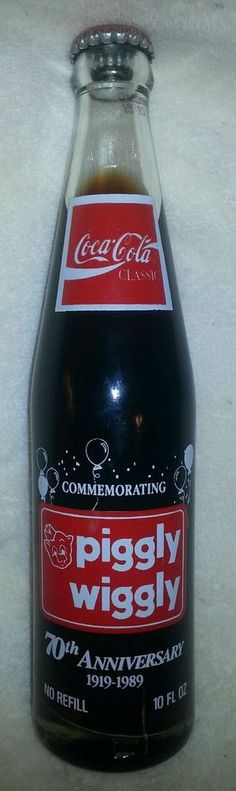 Piggly Wiggly Commemorative Coca Cola Bottle 70th anniversary
