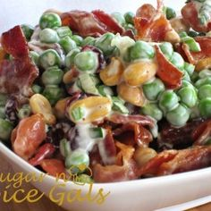 ☆☆ SPAGHETTI SALAD☆☆ Spaghetti Salad is a classic favorite! It's a pasta salad full of your favorite veggies, Italian dressing, cheeses & seasoning. Make it ahead of time - it only gets better as All You Need Is, Food Styling, Pea Salad With Bacon, Bacon Salad, Pea Salad Recipes, Cooking Recipes, Healthy Recipes, Easy Recipes, Bariatric Recipes